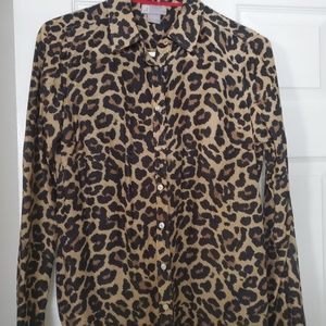 Leopard print long sleeved top by JCP size md